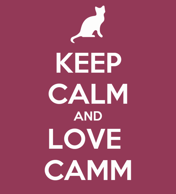 KEEP CALM AND LOVE  CAMM