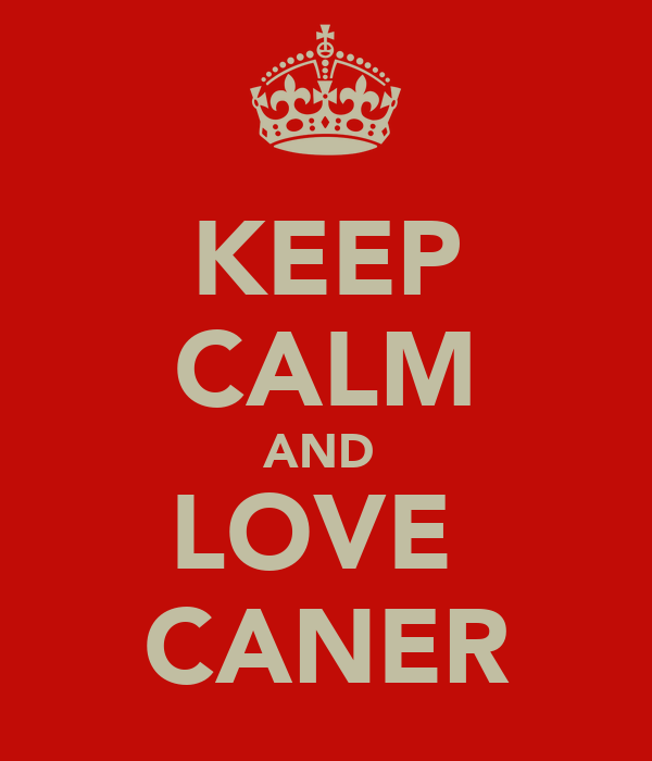 KEEP CALM AND  LOVE  CANER