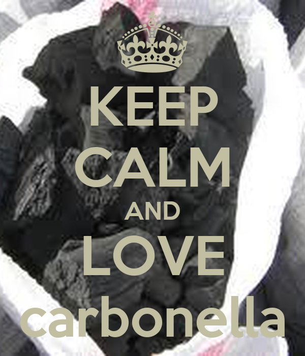 KEEP CALM AND LOVE carbonella