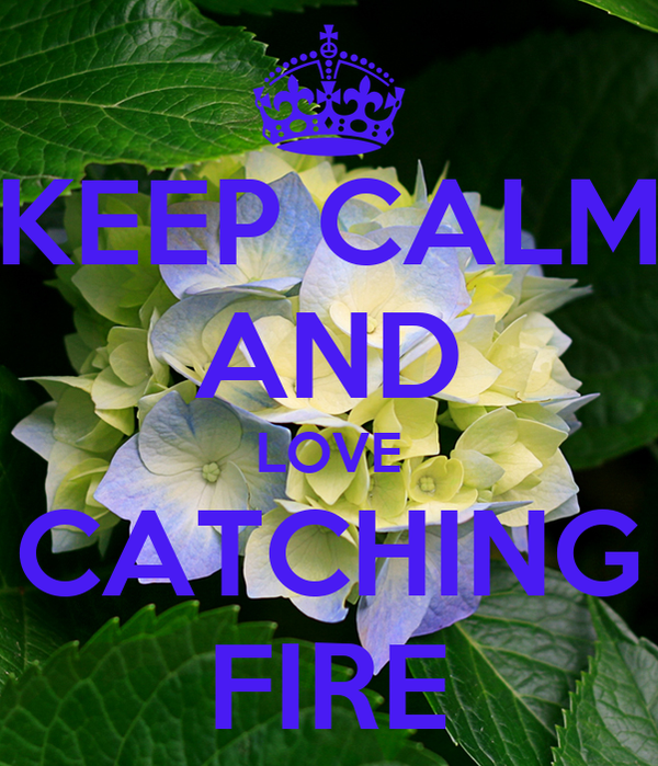 KEEP CALM AND LOVE CATCHING FIRE