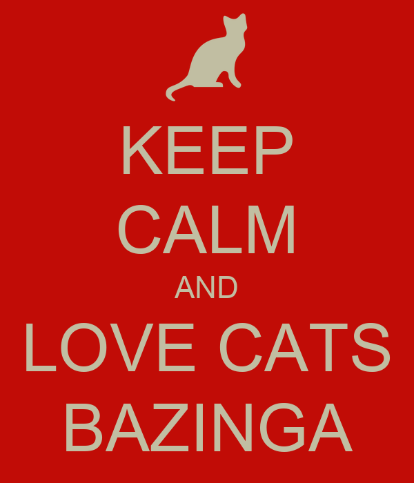 KEEP CALM AND LOVE CATS BAZINGA