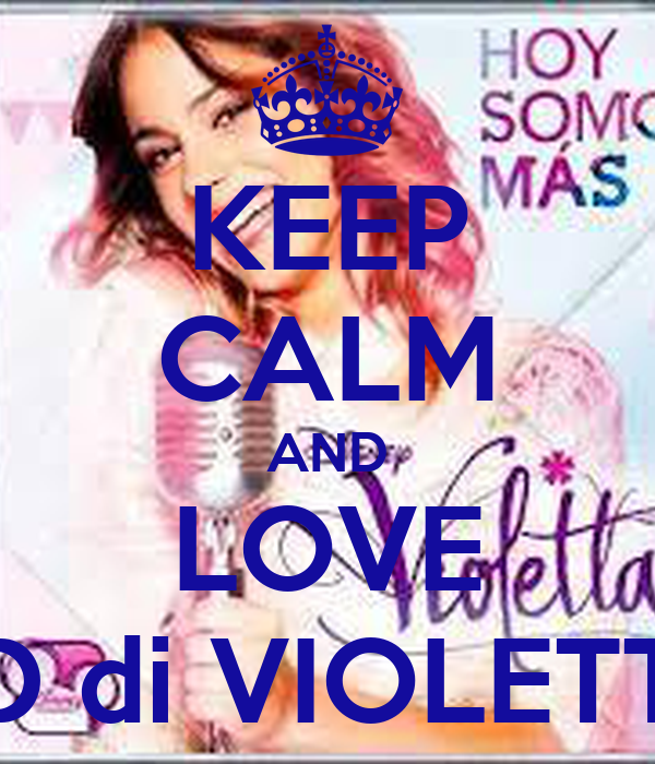 KEEP CALM AND LOVE CD di VIOLETTA