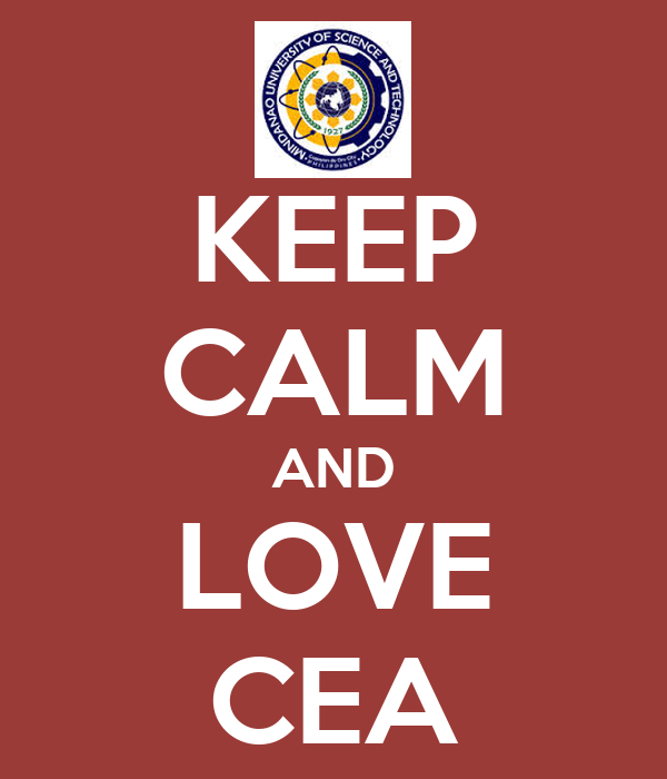KEEP CALM AND LOVE CEA