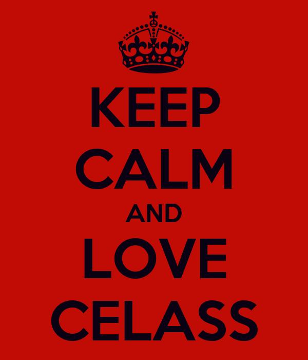 KEEP CALM AND LOVE CELASS