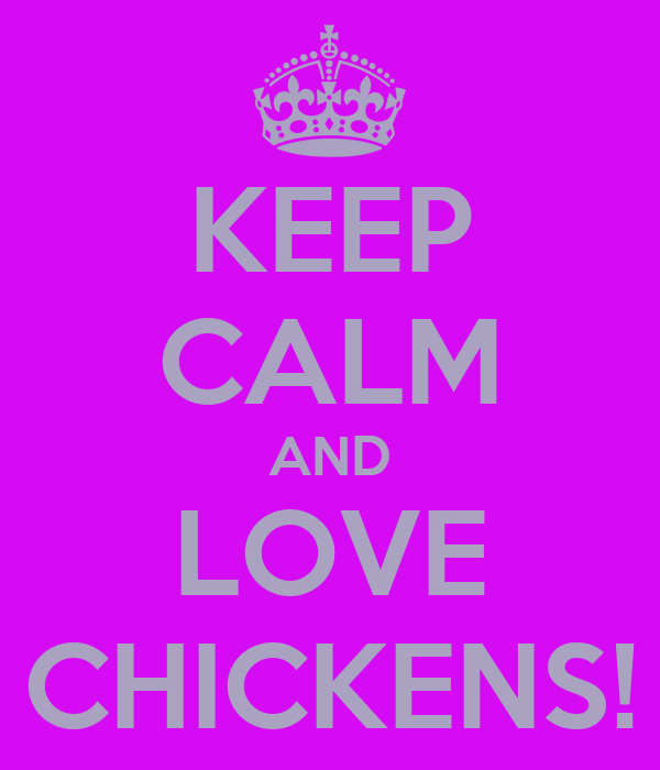 KEEP CALM AND LOVE CHICKENS!