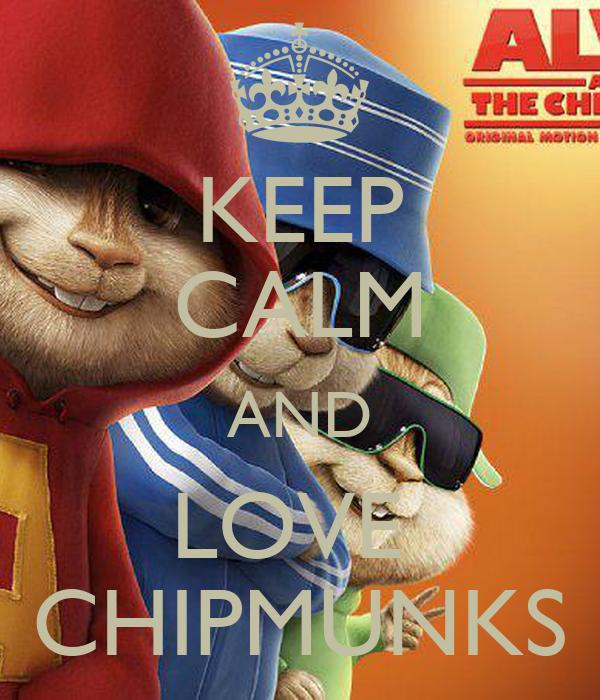 KEEP CALM AND LOVE  CHIPMUNKS