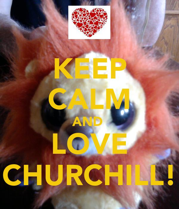 KEEP CALM AND  LOVE CHURCHILL!