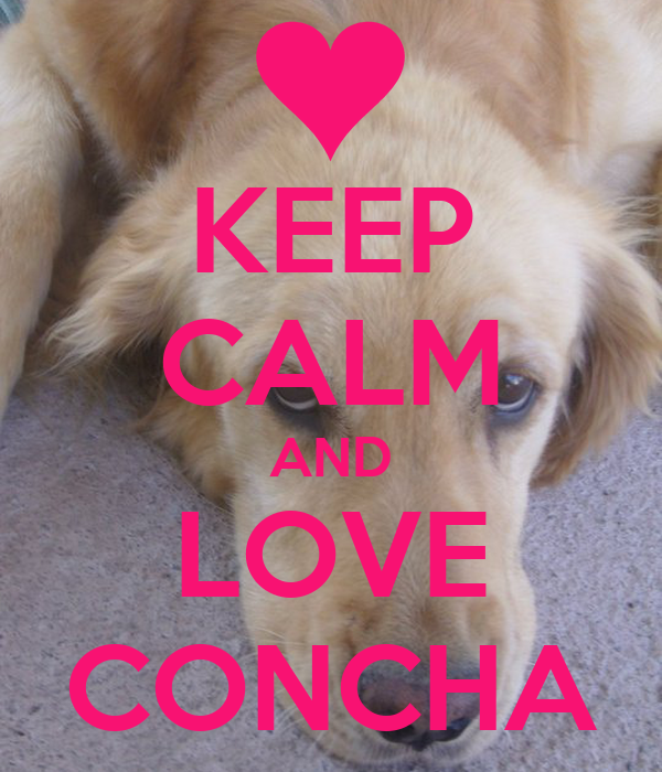 KEEP CALM AND LOVE CONCHA