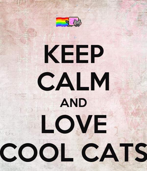 KEEP CALM AND LOVE COOL CATS