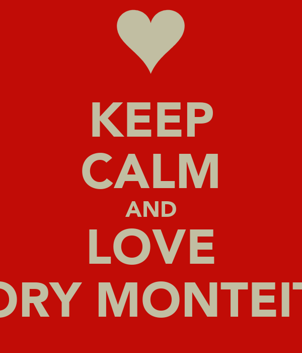 KEEP CALM AND LOVE CORY MONTEITH