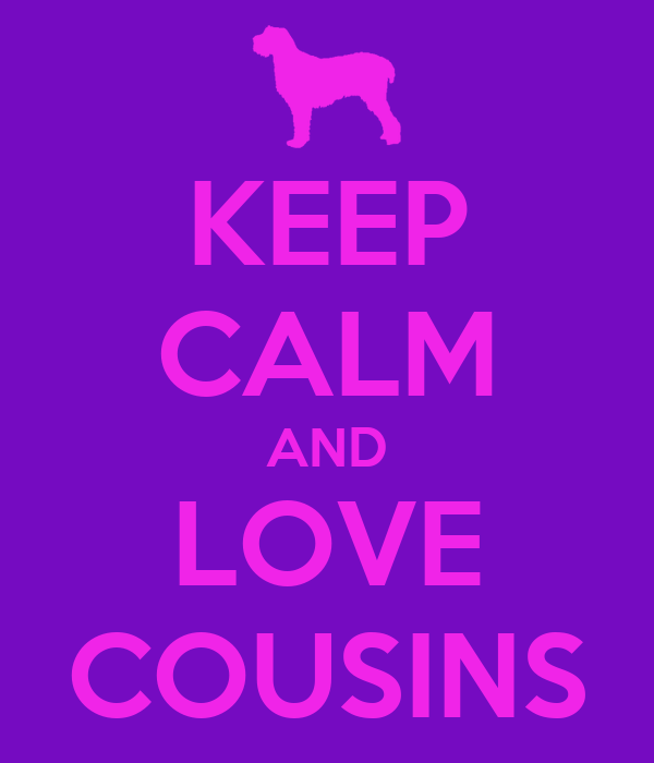 KEEP CALM AND LOVE COUSINS