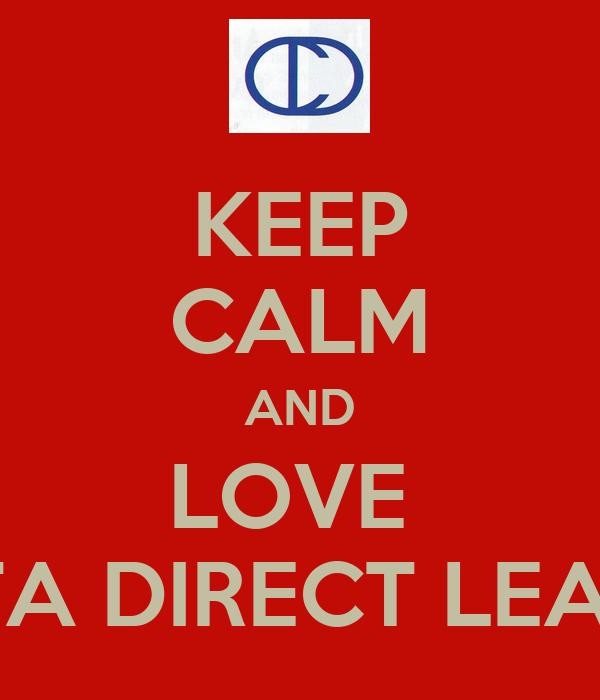 KEEP CALM AND LOVE  CREATA DIRECT LEARNING