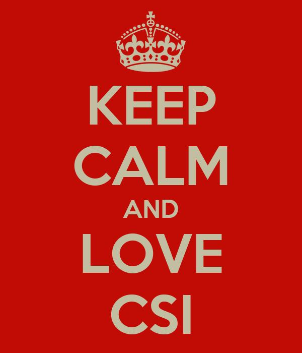 KEEP CALM AND LOVE CSI