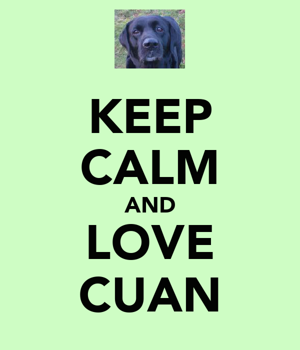 KEEP CALM AND LOVE CUAN