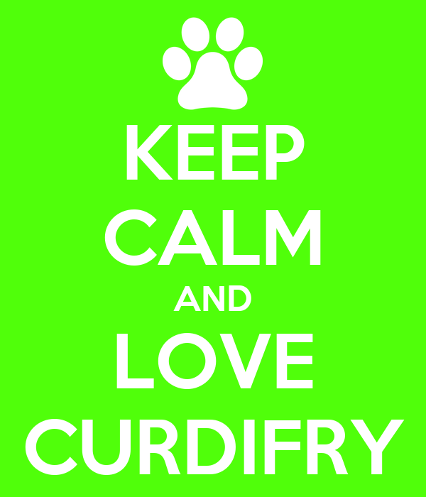 KEEP CALM AND LOVE CURDIFRY