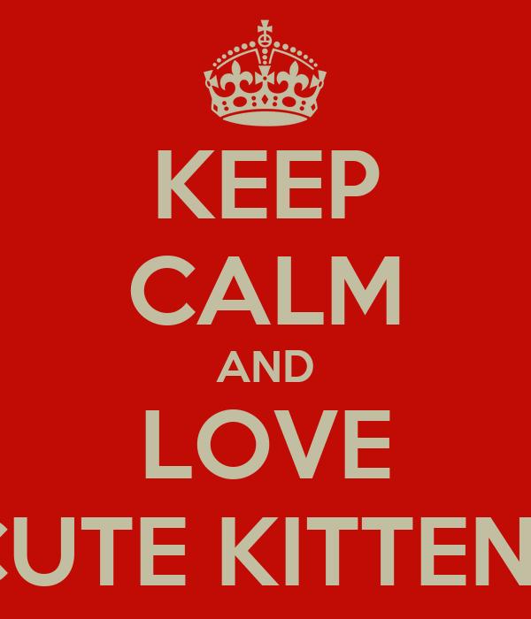 KEEP CALM AND LOVE CUTE KITTENS