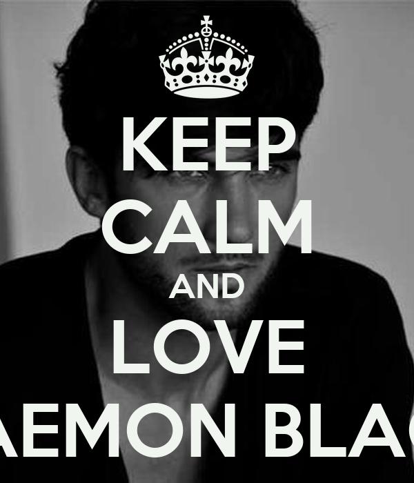 KEEP CALM AND LOVE DAEMON BLACK