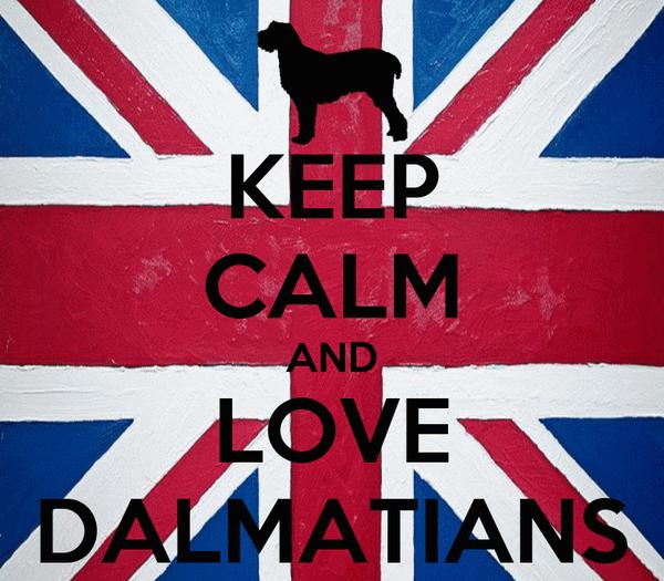 KEEP CALM AND LOVE DALMATIANS