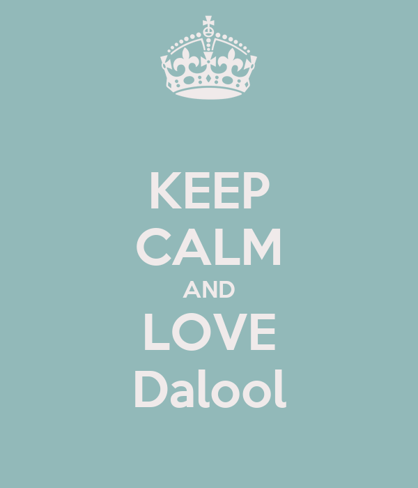 KEEP CALM AND LOVE Dalool