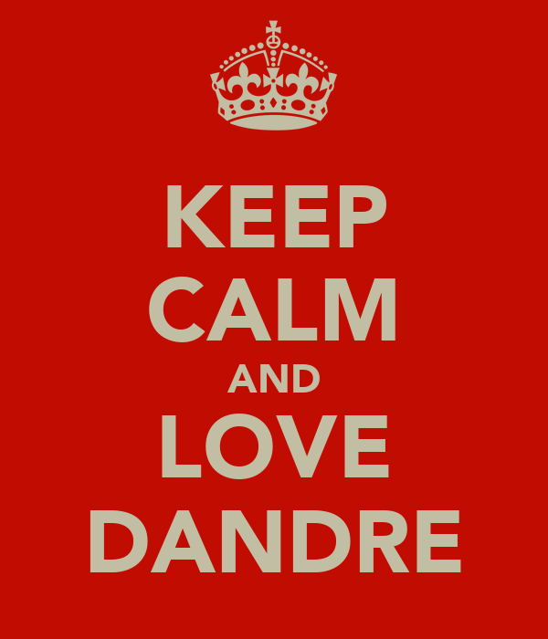 KEEP CALM AND LOVE DANDRE