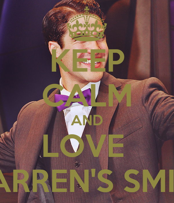 KEEP CALM AND LOVE  DARREN'S SMILE