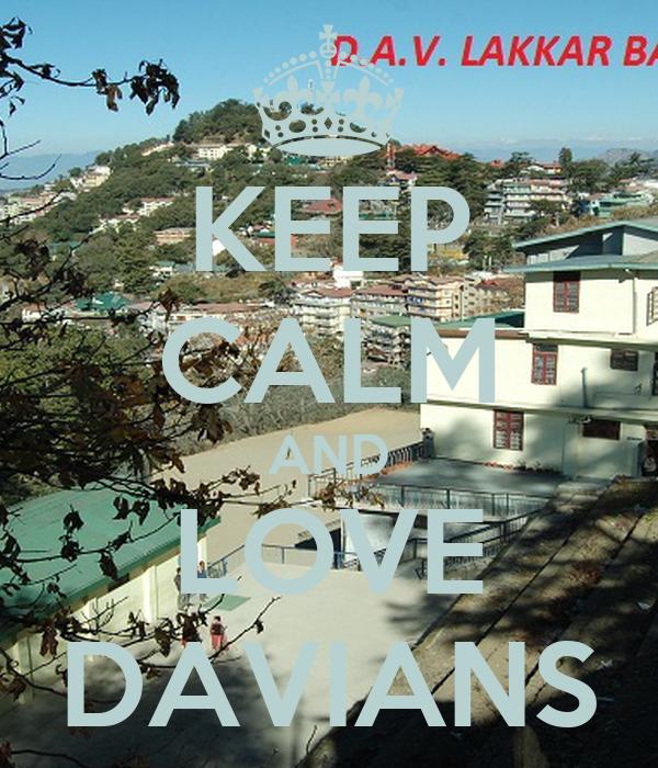 KEEP CALM AND LOVE DAVIANS