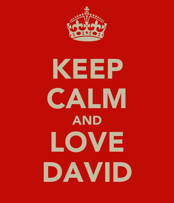 KEEP CALM AND LOVE DAVID