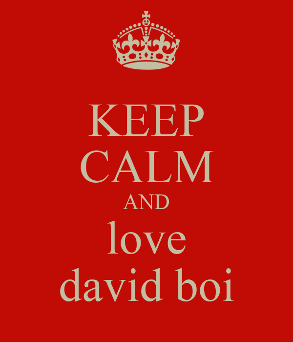 KEEP CALM AND love david boi