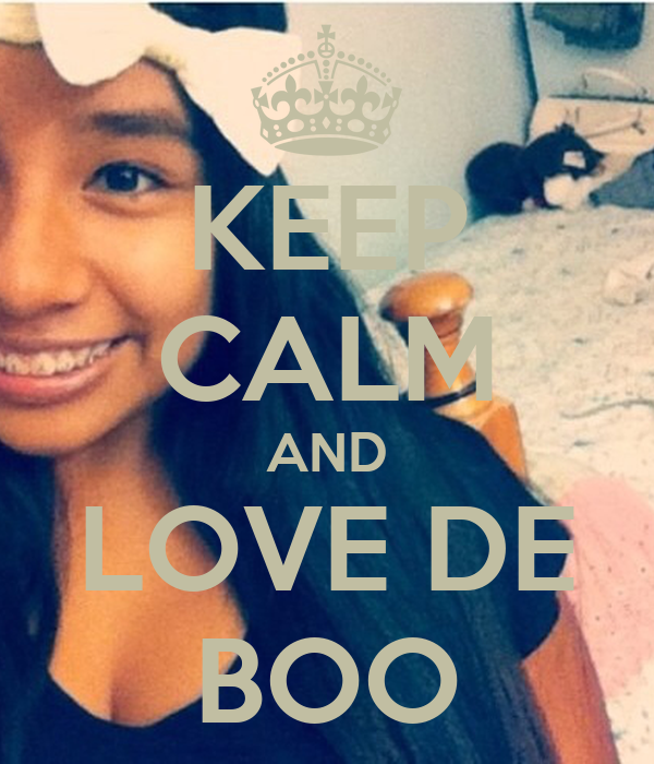 KEEP CALM AND LOVE DE BOO