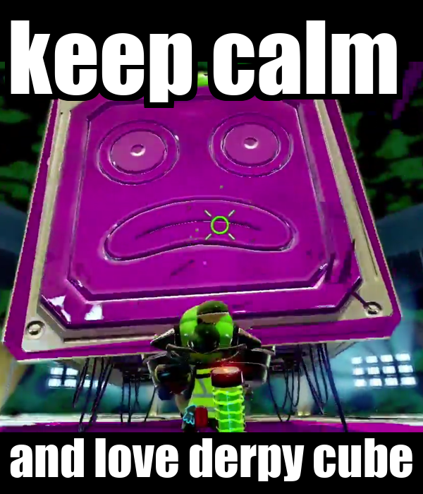 keep calm  and love derpy cube