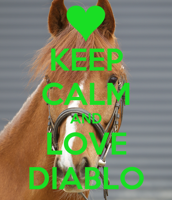KEEP CALM AND LOVE DIABLO