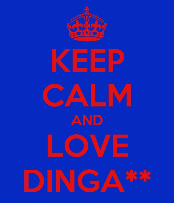 KEEP CALM AND LOVE DINGA**
