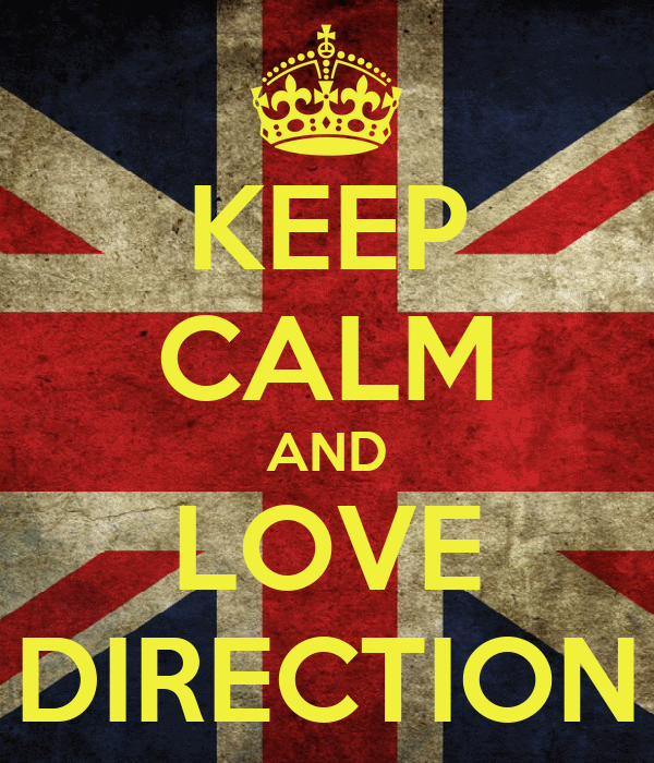 KEEP CALM AND LOVE DIRECTION