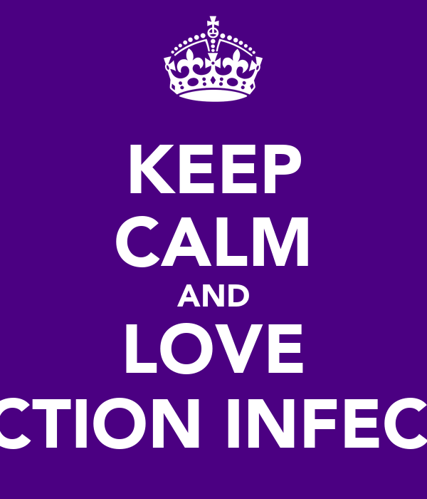 KEEP CALM AND LOVE DIRECTION INFECTION