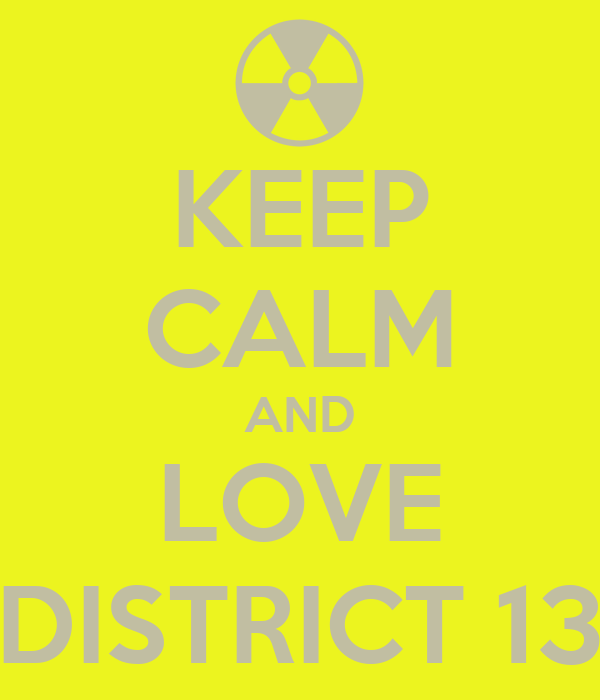 KEEP CALM AND LOVE DISTRICT 13
