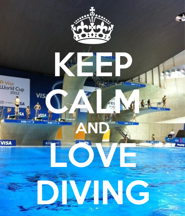 KEEP CALM AND LOVE DIVING