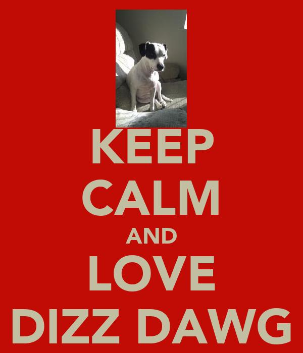 KEEP CALM AND LOVE DIZZ DAWG