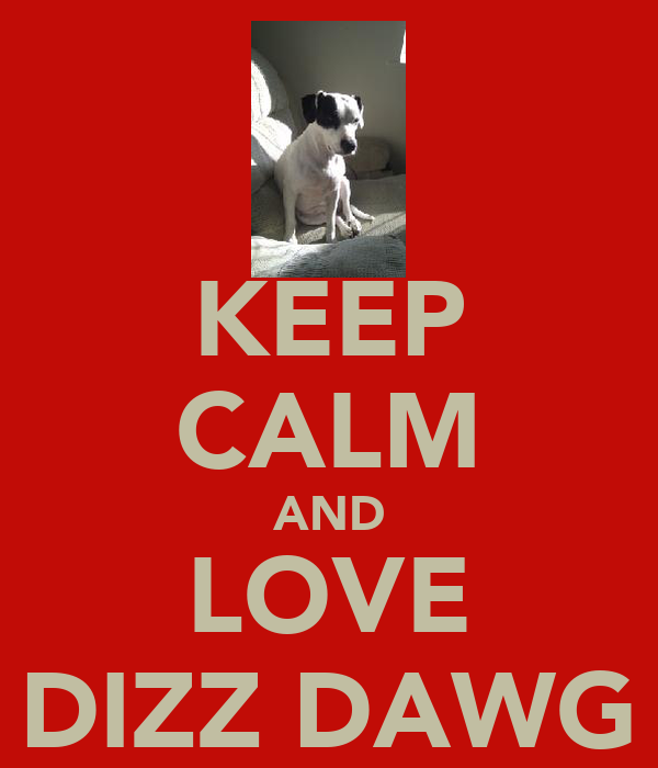 KEEP CALM AND LOVE DIZZ DAWG