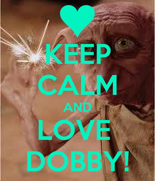 KEEP CALM AND LOVE  DOBBY!
