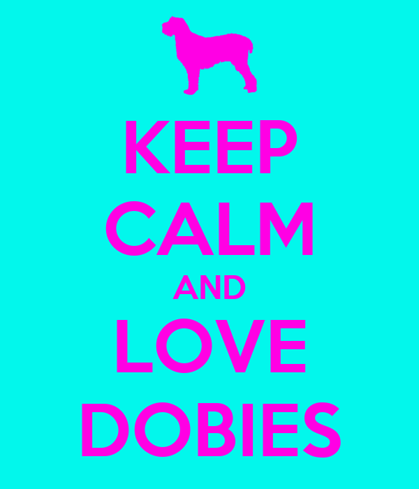 KEEP CALM AND LOVE DOBIES