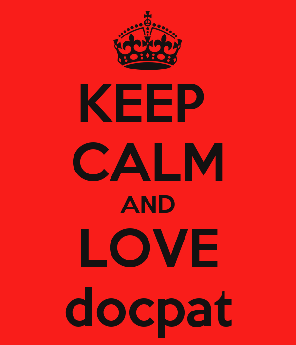 KEEP  CALM AND LOVE docpat