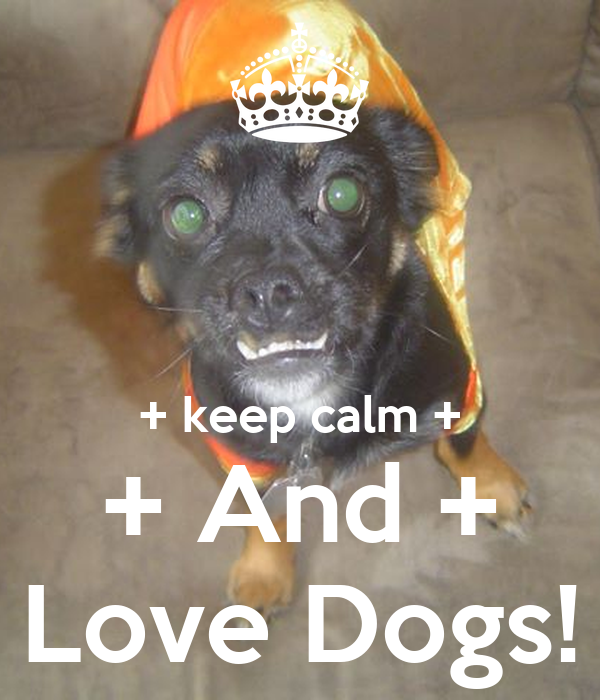 + keep calm + + And + + Love Dogs! +