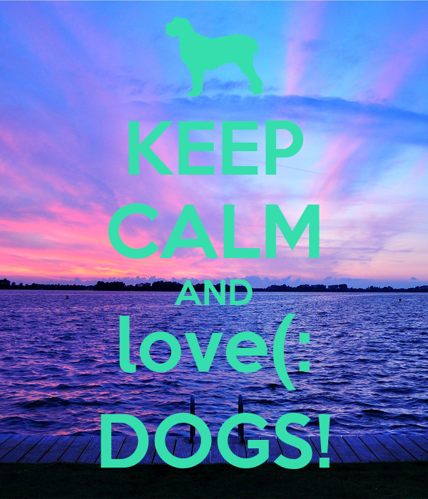 KEEP CALM AND love(: DOGS!
