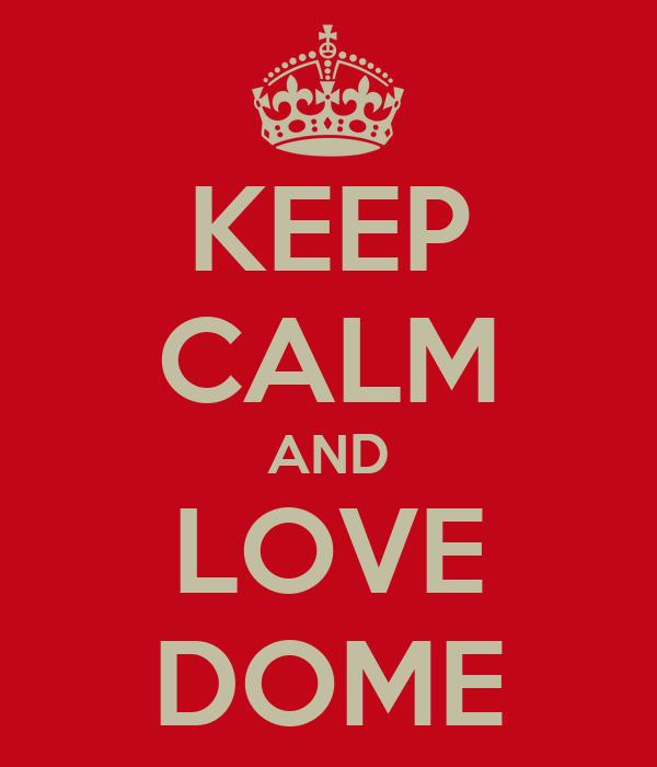 KEEP CALM AND LOVE DOME