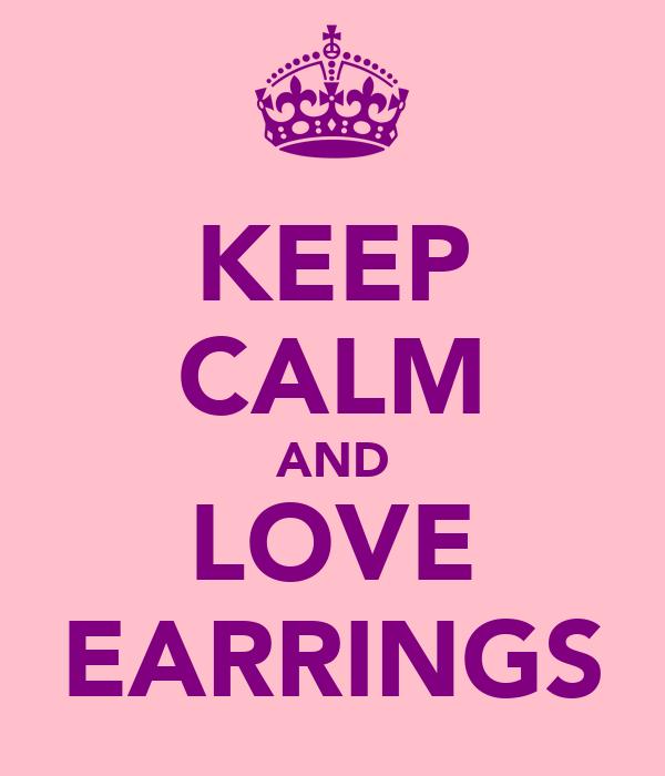 KEEP CALM AND LOVE EARRINGS