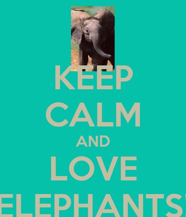 KEEP CALM AND LOVE ELEPHANTS!