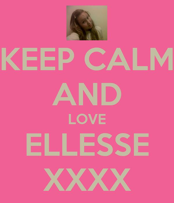 KEEP CALM AND LOVE ELLESSE XXXX