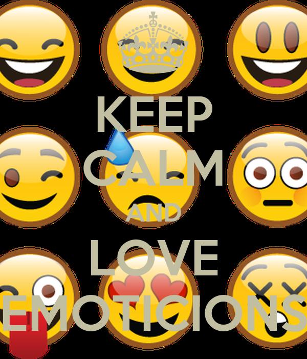KEEP CALM AND LOVE EMOTICIONS
