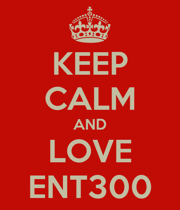 KEEP CALM AND LOVE ENT300