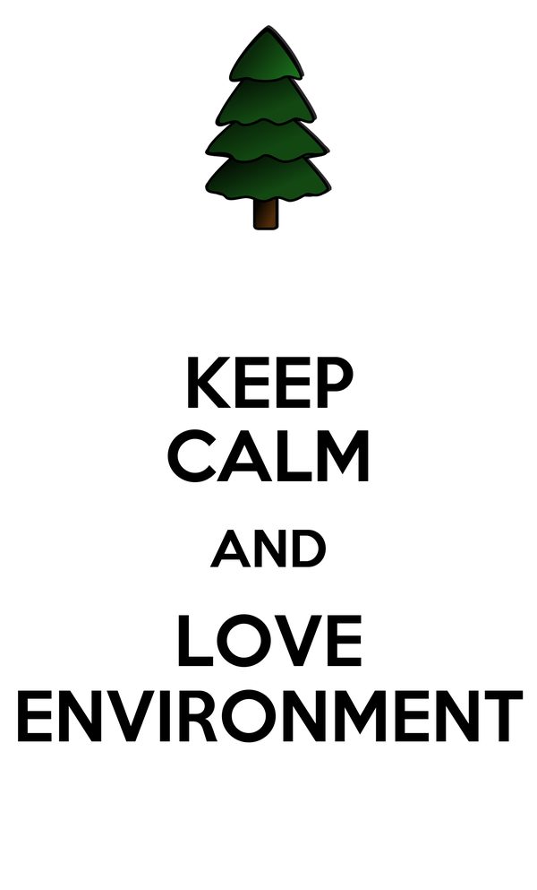 KEEP CALM AND LOVE ENVIRONMENT